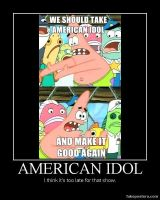 Patrick Star Pushing Meme: American Idol by Onikage108