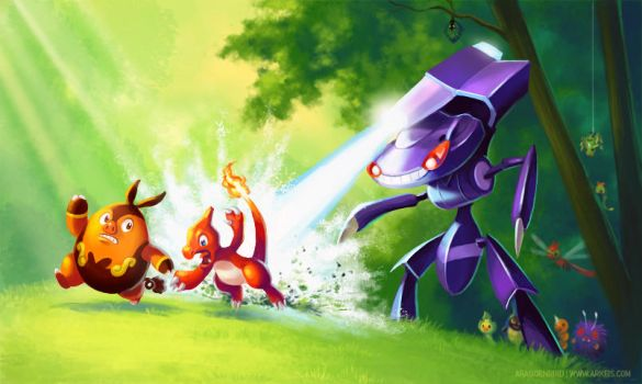 Genesect - Savior of Bugs by arkeis-pokemon