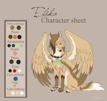 Elika Character sheet - Commission by hecatehell