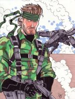Solid Snake from Metal Gear by calslayton