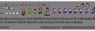 Head Size in Low-Res Sprites 9x9 15.04.12 by JustinGameDesign