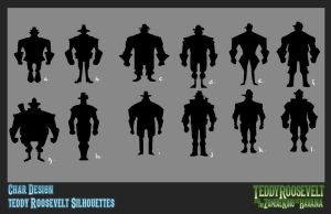 Teddy R. and The Zombie King - Teddy Silhouettes by billydallaspatton