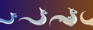 Dratini to Dragonite by Jazz-Rhythm