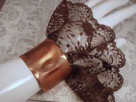 Clunky Copper and Frilly Lace Reversible Asymetric by PoniesOfDOOOM