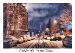Footprints in the Snow HDR by ISIK5