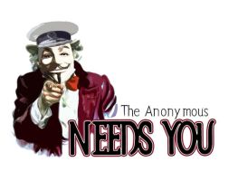 The Anonymous needs you by WALLWAGER