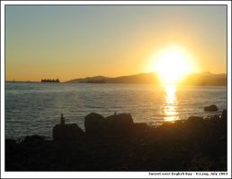 Sunset on English Bay by anotherview