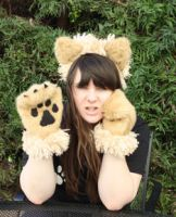 Fierce Lion Ears and Paws by Lady-with-a-buzzsaw