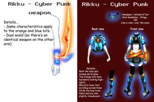 Rikku - Dressphere:Cyber Punk: by SakuraTenshi94