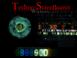 techno screensaver with sound by feniksas4