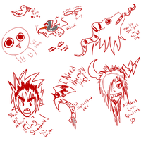 Creation and ect doodles yo by Dysfunctional-Horror