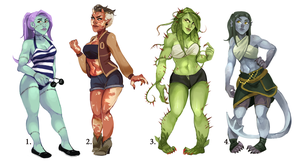 Monster Girl Adopts - ALL SOLD by b-oots