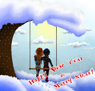 Happy New Year and Marry X-mas! by FAoneLI