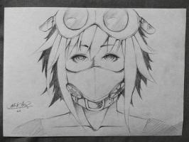 The Girl in a Gas Mask by icreateartist1221