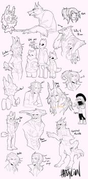Hasty Drawing Dump 3 by HastyLion