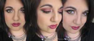 Burgandy Smokey Eye Makeup by Cinnamoncandy
