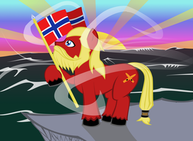 Bronies of Norway Vikingpony at Sunset by NecroEX