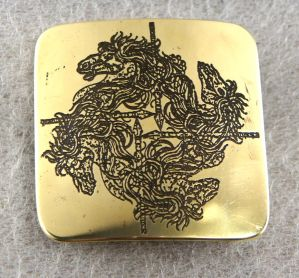 Turnover Horse Undead brass belt buckle by TimforShade