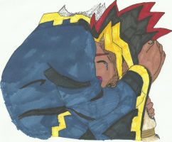 Atem and Father by Pyramidheadfreak