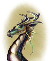 Dragon Portrait by LoriStebbins