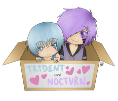 Nocturn and Trident by KayMarie94