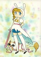 Fionna and Cake by EliPoppy