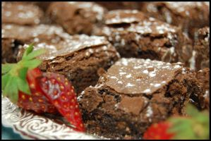 Double Choc Brownies by graydo-2010