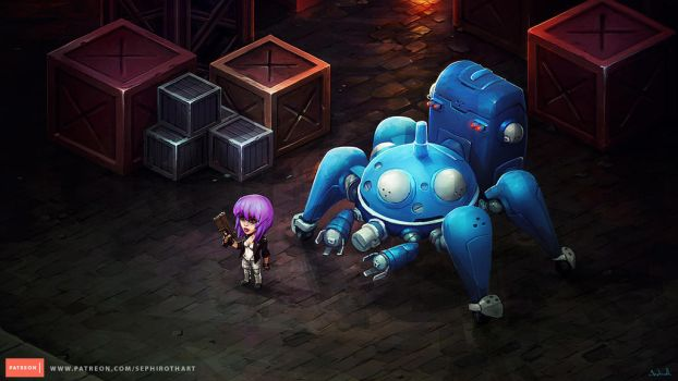 Isometric Ghost in the Shell by Sephiroth-Art