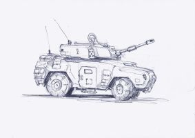 Scout tank Sketch by MasterAlighieri