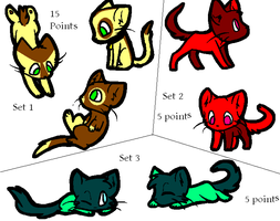 Kitty Cat Adopt Set (Open) by SpringANDFall