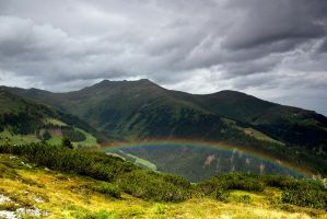 Alpine rainbow by mutrus