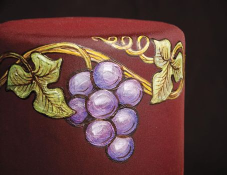 Grapes Cocoa Butter Painting by Battledress
