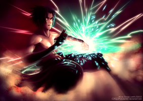 Shirtless Ninja: Uchiha Sasuke by greggileano