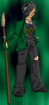 Ainslie drawing... WITH COLOR by Fyrbrand