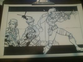 GI Joe Wounded Warrior Project Inked by LordSantiago