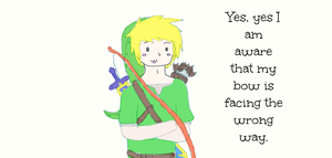 Link's bow by Cheezitss