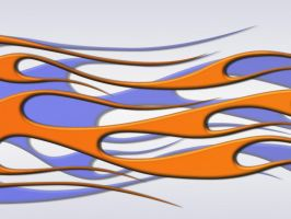 Flames - Blue Orange Metallic by jbensch