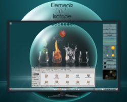 Elements ' n ' Isotope - My KDE4 desktop by rvc-2011