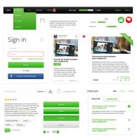 Pixeful.com Free UI Green Elements Pack by prestigedesign
