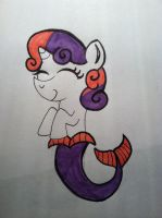 Sweetie Belle Mermaid by AperatureScience