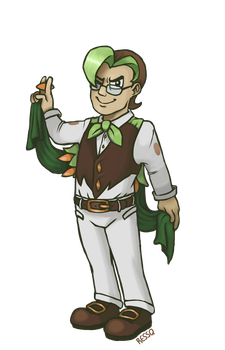 Dartrix Gijinka by RessQ