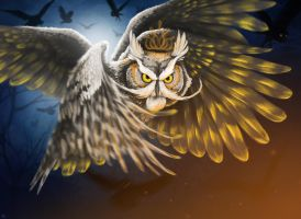 King of Owls by firlefanzzz