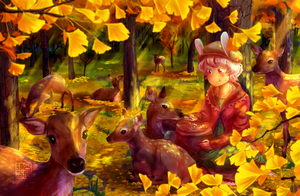 gold forest by Cheppoly