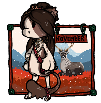 Commission - Bagbean November by Bunnior