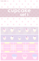 Cupcake Set 1 by tristin-stock