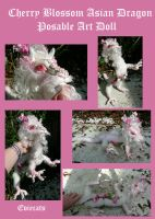Cherry Blossom Dragon Posable Art Doll by Eviecats