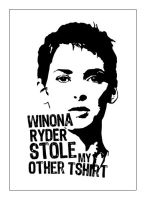 Winona Ryder Stole my tshirt by dugebag