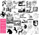 PS Brushes: Unicorns by HGGraphicDesigns