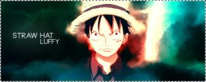 Luffy signature version 1 by ksop