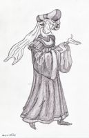 Frollo Struttin' (Shadowed Concept Art) by yami0815